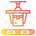 Conveyor Delivery Industrial Machine Icon