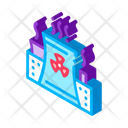 Atomic Nuclear Plant Icon