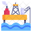 Oil Rig Industrial Pollution Factory Pollution Icon