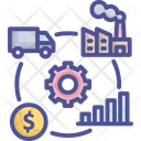 Industrial Process Shipping Business Icon