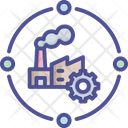 Industrial Process Chain Factory Icon