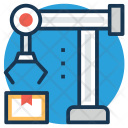 Industrial Robot Arm Icon