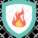 Fire Sign Shield Icon