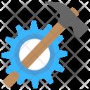 Industrial Hammer Gear Icon