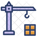 Tower Crane Material Lifter Crane Machine Icon