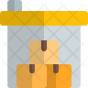 Industrial Warehouse Boxes Icon