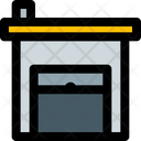 Industrial Warehouse Open Warehouse Storehouse Icon