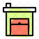 Industrial Warehouse Open Icon