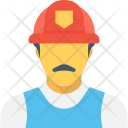 Industrial Worker Factory Icon