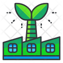 Industry Green Factory Icon