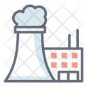 Nuclear Factory Chimney Pollution Air Pollution Icon
