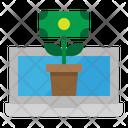 Growth Money Laptop Icon