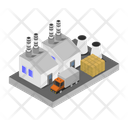 Industry Isometric Building Icon