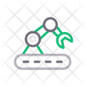Industry Robotic Machine Icon