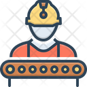 Industry Worker Construction Supervisor Icon