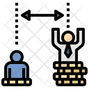Gap Inequality Difference Icon