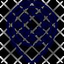 Location Corona Virus Icon