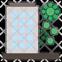 Infected Building Corona Virus Icon