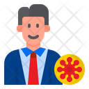 Infected Businessman Icon