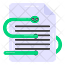 Infected Document Icon