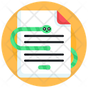 Infected Document Infected File Infected Data Icon