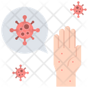 Hand Virus Disease Icon