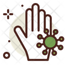 Infected Hand Hand Wash Virus On Hand Icon