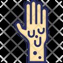 Infected Hands Hands Virus Icon
