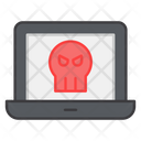 Infected Laptop Icon