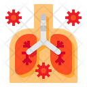 Lung Coronavirus Pneumonia Icon