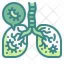 Infected Lung Infectious Disease Sickness Icon