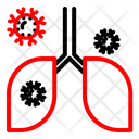 Infection Covid Lung Icon