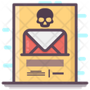 Infected Mail Email Virus Spam Mail Icon