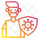 Infected Person Man Medical Mask Icon