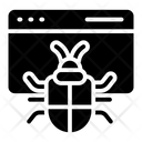 Infected Website Bug Network Icon