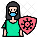 Infected Woman Icon