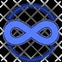 Button Eternity Sign Eight Icon