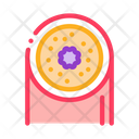 Inflamed Bronchus Color Icon