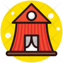 Inflatable Tent Camp Icon