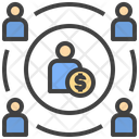 Influence Network Influence Connection Marketing Icon