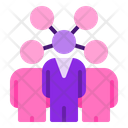 Influencer Company Group Icon