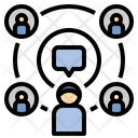 Communication Connect Influencer Icon