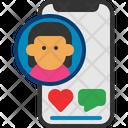 Influencer Social Contact Icon