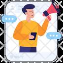 Online Marketer Influencer Online Promotion Icon