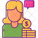 Influencer Compensation Compensation Funding Icon