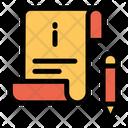 Bill Info Invoice Icon