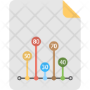 Vertical Line Infographics Icon