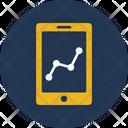 Infographic Mobile Mobile Graph Icon