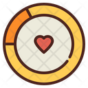 Infographic Love Graph Love Chart Icon