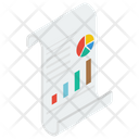 Sales Report Financial Report Graph Analytics Icon